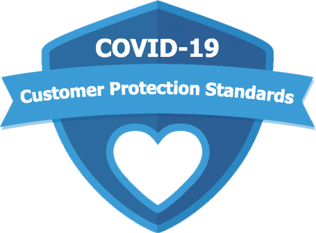 COVID-19 Customer Protection Standards Logo